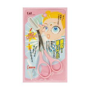 日本KAI贝印 修眉剪刀 带眉梳 1件入