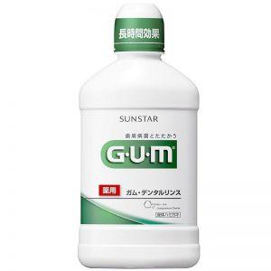 日本GUM药用牙周护理长时间杀菌普通型漱口水 500ml