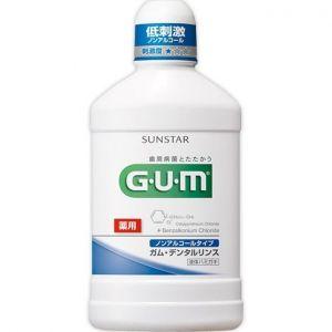 日本GUM药用牙周护理非酒精型低刺激漱口水 500ml
