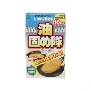 日本废食用油处理剂 废油凝固剂 适用火锅油炸余油10包入 植物成分不伤锅具