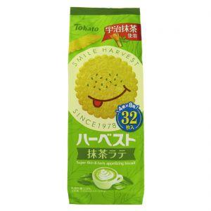 日本TOHATO桃哈多 HARVEST抹茶味薄饼 32片 100G