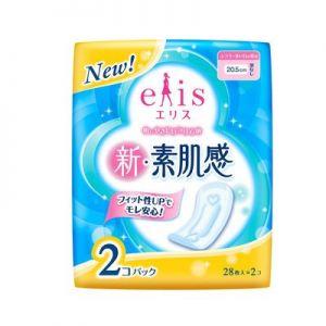 日本大王elis日用敏感素肌无护翼卫生巾 姨妈巾20.5cm2包*28枚