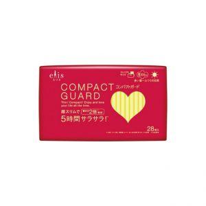 日本ELIS COMPACT GUARD 轻薄量多日用护翼卫生巾 20.5CM 25片