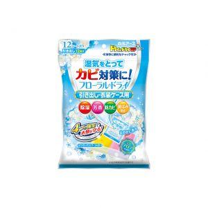 日本HAKUGEN EARTH 白元 祛味防霉防潮剂 抽屉·衣物收纳盒用 12片装
