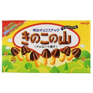日本MEIJI明治 巧克力味蘑菇型饼干 74g