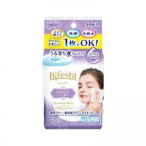 日本MANDOM曼丹 BIFESTA 免洗卸妆湿巾 滋润型 46枚入
