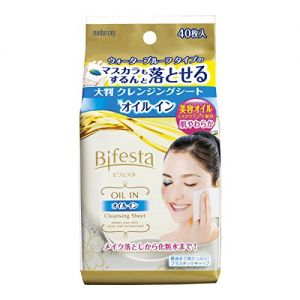 日本MANDOM曼丹 BIFESTA 免洗卸妆湿巾 弹力紧致型 40枚入