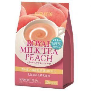 日本NITTO日东红茶 北海道速溶奶茶 白桃味 10条*14G