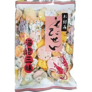 日本MAMA 综合虾味米果 100G