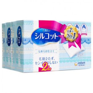 日本UNICHARM SILCOT超柔软化妆棉 82片入 日本销量冠军