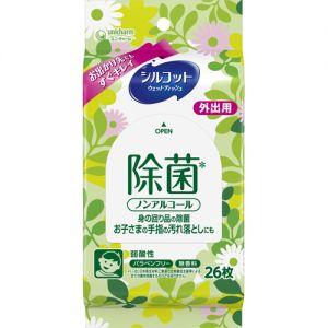日本尤妮佳无酒精弱酸性除菌外出携带湿巾 26枚入