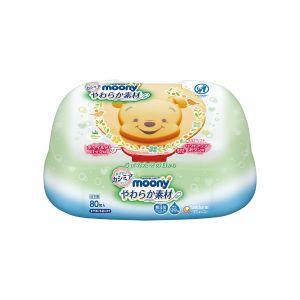 日本Moony柔软婴幼儿身体湿巾 80张入