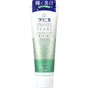 日本LION狮王 酵素珍珠亮白固齿牙膏 柑橘薄荷味 130g