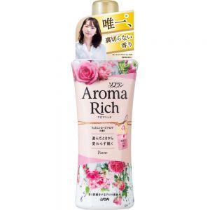 日本狮王Aroma Rich防静电柔软剂衣馥柔香氛衣物柔顺剂520ml 高雅玫瑰香