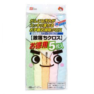 日本 LEC 激落君 超极细纤维清洁抹布超吸水不掉毛 厨房清洁布5色抹布 1包5入日本 LEC 激落君 超极细纤维清洁抹布超吸水不掉毛 厨房清洁布5色抹布 1包5入