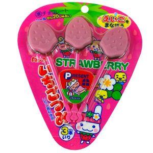 日本LOTTE乐天 草莓味巧克力棒糖 3个
