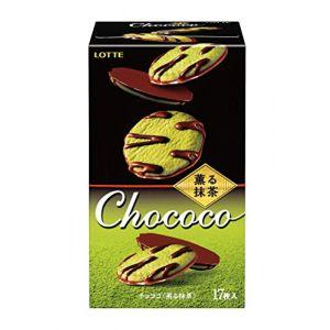 日本LOTTE乐天 抹茶巧克力夹心饼干 17枚入 98.6g