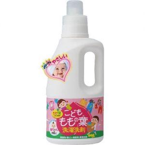 日本UNIMAT婴儿宝宝专用桃叶无泡弱碱性衣物洗涤剂 800ml