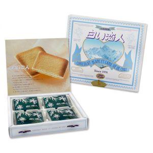日本ISHIYA石屋制菓 SHIROI KOIBITO北海道白色恋人白巧克力饼干 12枚入