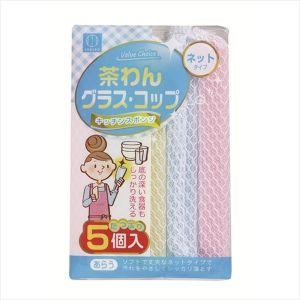 日本KOKUBO小久保 厨房清洁洗碗网布海绵擦 5个入