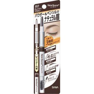 日本SANA莎娜 柔和三用眉彩笔 #B2灰棕色