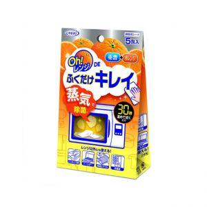日本UYEKI 微波炉专用清洁湿巾蒸气去油污杀菌除异味清洁布5片