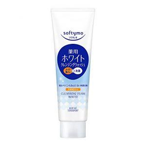 日本KOSE高丝 SOFTYMO丝芙蒂 嫩白2in1洗卸两用洗面乳 190g