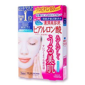 日本KOSE高丝 CLEAR TURN玻尿酸保湿面膜 5枚入