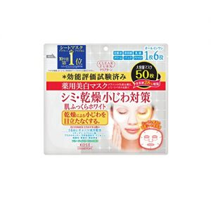 日本KOSE高丝 CLEAR TURN药用美白 美白肌肤面膜 50片入