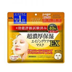 日本KOSE高丝CLEAR TURN超浓保湿面膜EX 40片入