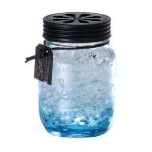 日本CARMATE快美特 海岸风果冻精致玻璃瓶香水空气清新剂 #清香海洋 130ml