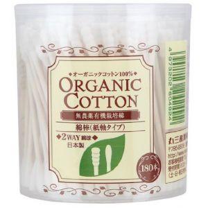 日本COTTON LABO 天然有机栽培棉花棒 180支入