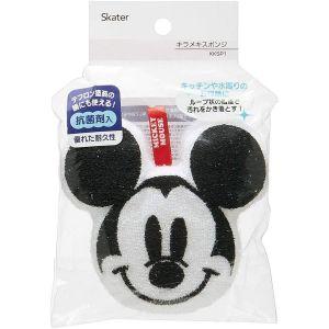 日本SKATER Mickey mouse光面耐久抗菌厨房海绵 可悬挂