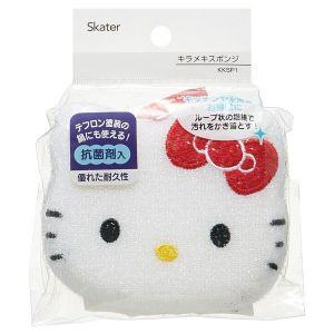 日本SKATER Hello Kitty光面耐久抗菌厨房海绵 可悬挂