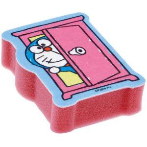 日本SKATER Doraemon粉色两层构造去污起泡厨房海绵 一个装