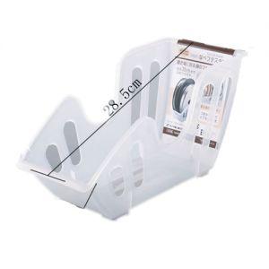 日本原装锅盖架锅盖收纳架带沥油盘厨房用塑料置物架