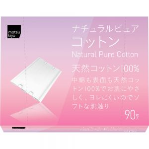 日本matsukiyo天然棉化妆棉 90枚*2包