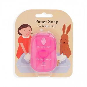 日本CHARLEY 便携洗手纸香皂 #草莓 50枚入