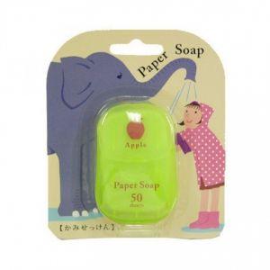 日本CHARLEY 便携洗手纸香皂 #苹果 50枚入