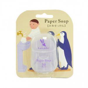 日本CHARLEY 便携洗手纸香皂 #薰衣草 50枚入