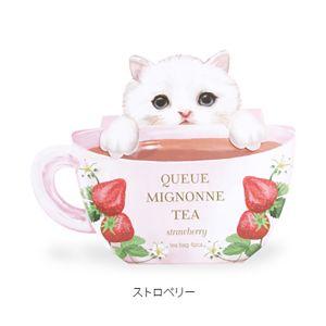 日本CHARLEY可爱小猫茶包 草莓味 4包