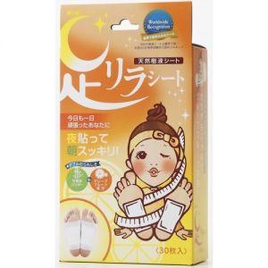日本ASHIRIRA树之惠 天然树液除湿气美容足贴 西柚 30片装