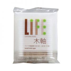 日本HEIWA MEDIC LIFE 木轴棉棒 100pcs