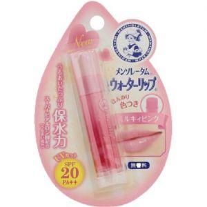 日本ROHTO乐敦制药MENTHOLATUM曼秀雷敦WATER LIP保水力防晒润唇膏SPF20 PA ++ 4.5g 牛奶粉嫩