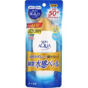 20新款日本 乐敦SKIN AQUA瞬间水感防晒霜乳 SPF50+ 110g