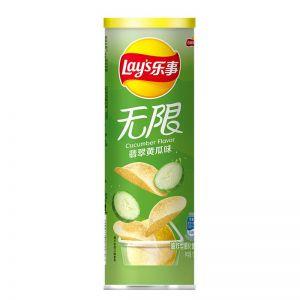 台湾LAYS乐事 无限罐装薯片 翡翠黄瓜 104G