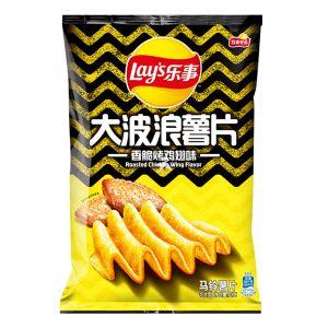 台湾LAYS乐事 大波浪薯片 香脆烤鸡翅 70G