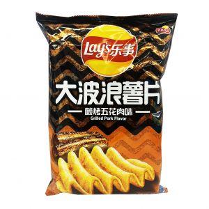 台湾LAYS乐事 大波浪薯片 碳烤五花肉 70G
