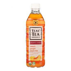 日本ITO EN伊藤园 TEAS'TEA ORGANIC黄桃姜味黑茶 500ML