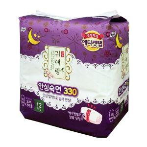 韩国LG贵爱娘夜用330mm卫生巾12片